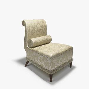 baker slipper armchair chair 3d model