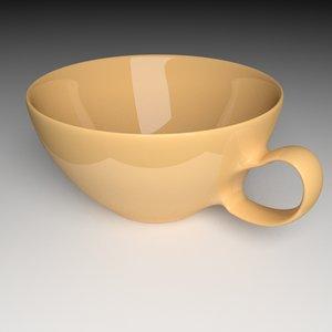 3ds cup drink tea