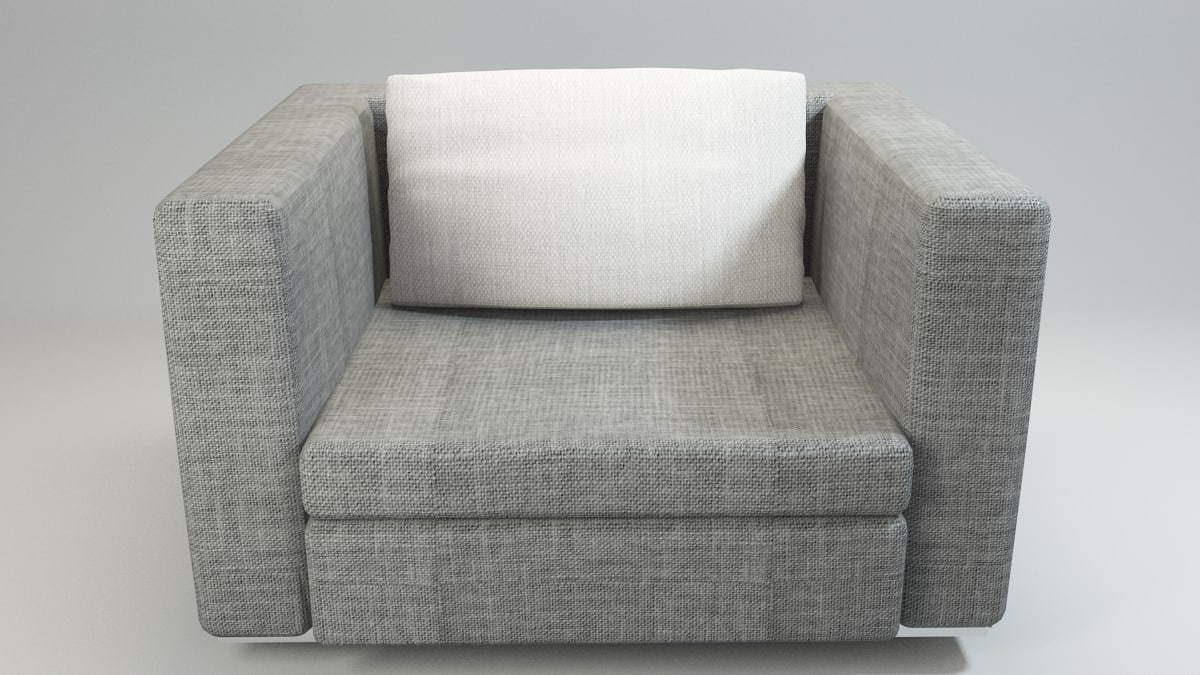 donghia arm chair 3d model