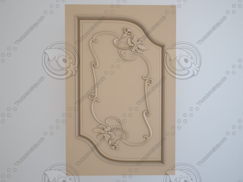 3d model door panel kitchen