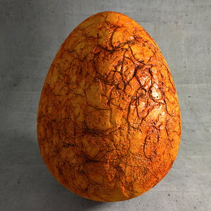 egg stone fossil 3d model