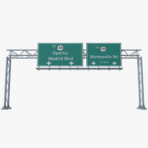 3d highway signage
