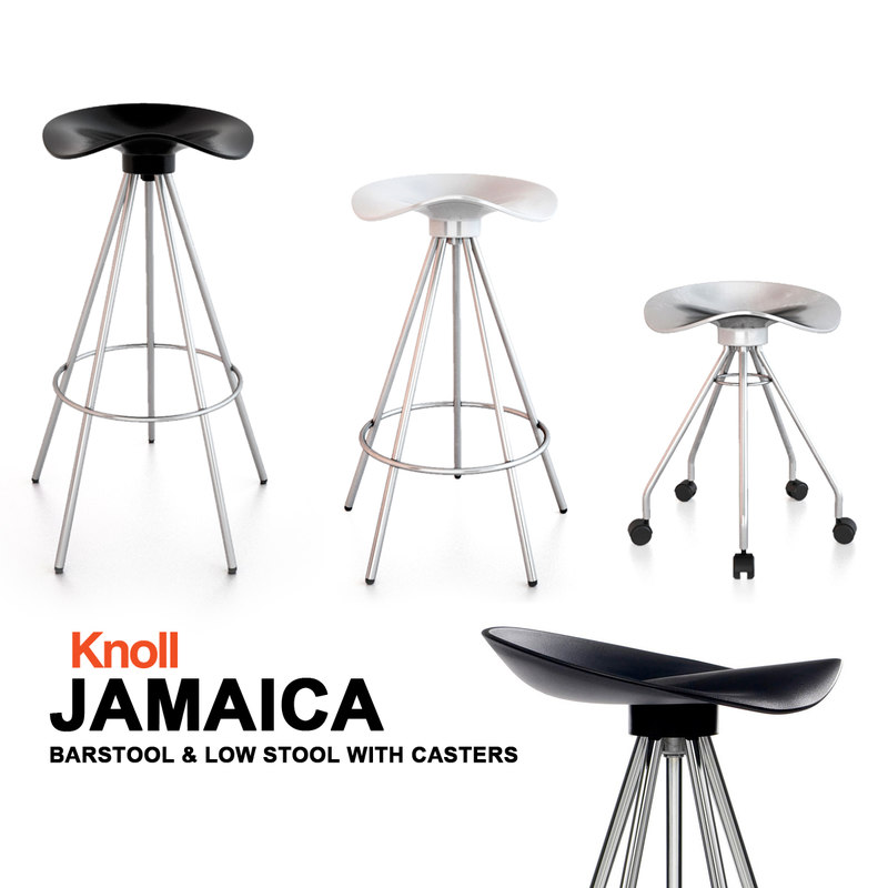 3ds max knoll jamaica barstool bar seat