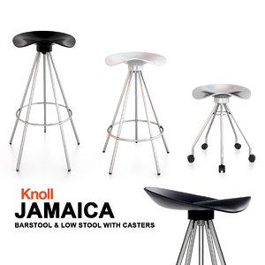 3ds max knoll jamaica barstool bar seat