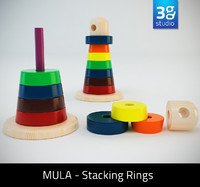 3d mula stacking rings model