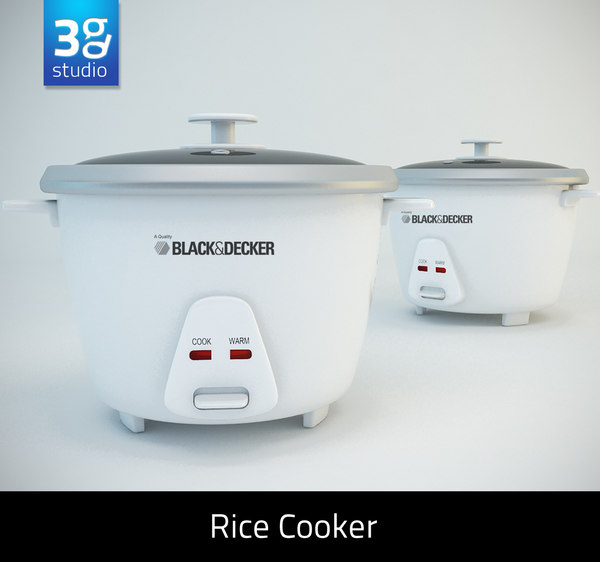 rice cooker typical 3d model
