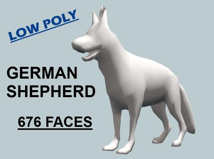 german shepherd dog 3ds