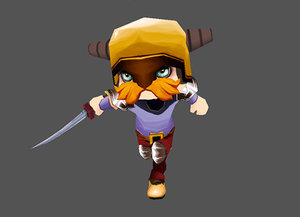 low-poly knight polys max