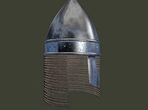 helmet chainmail 3d c4d