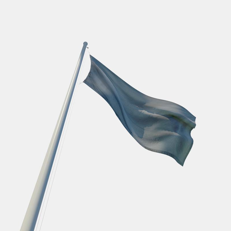 flag pole 3d model