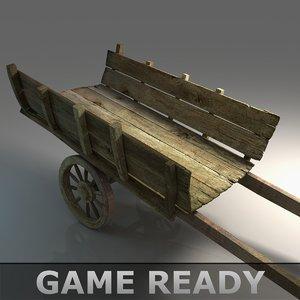 carts medieval 3d model
