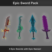 3d model epic swords