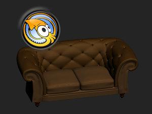 free luxury sofa 3d model
