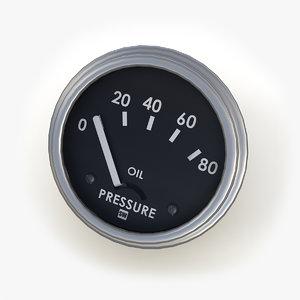 oil pressure gauge max