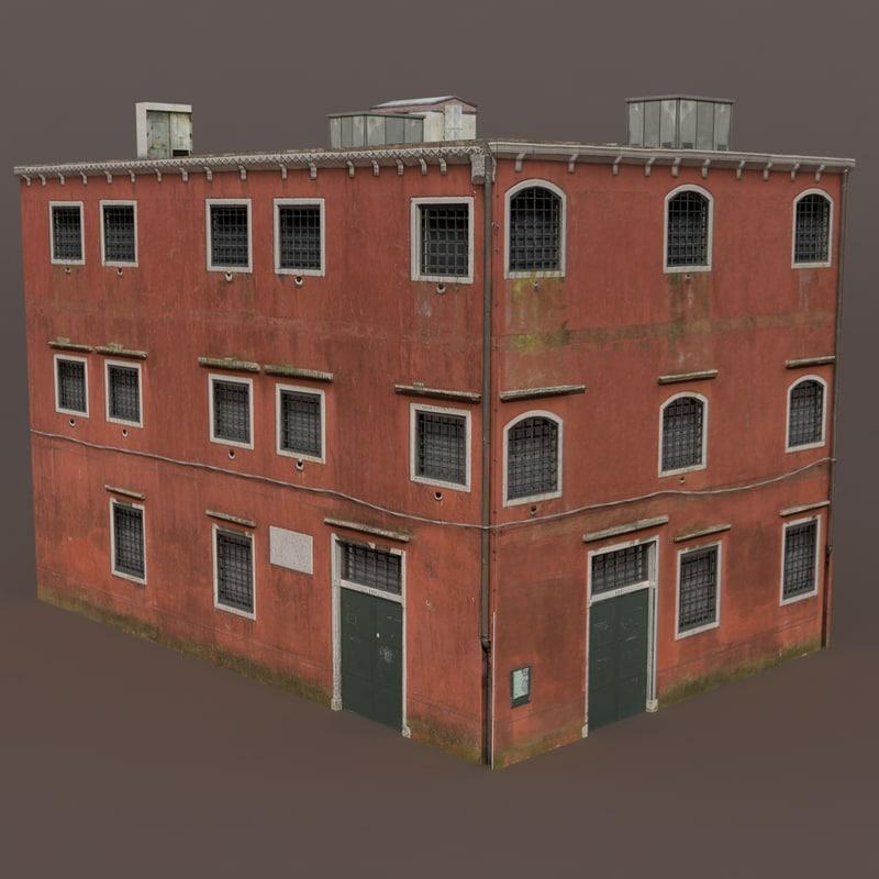 lwo old building modeled