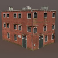 Factory Building Low Poly 3d Model