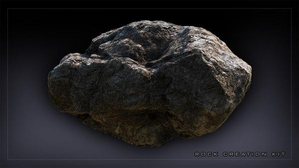 3d model rock realistic hi-poly