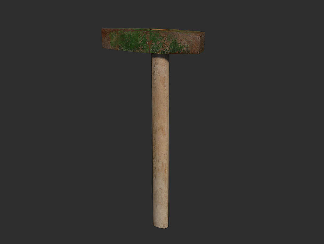 3ds max rusty hammer