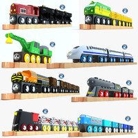 3d model of kids train toys 3