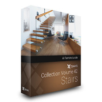 CGAxis Models Volume 42 Stairs