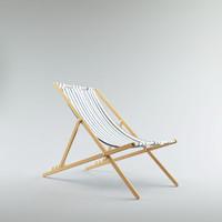 wood cloth deck chair