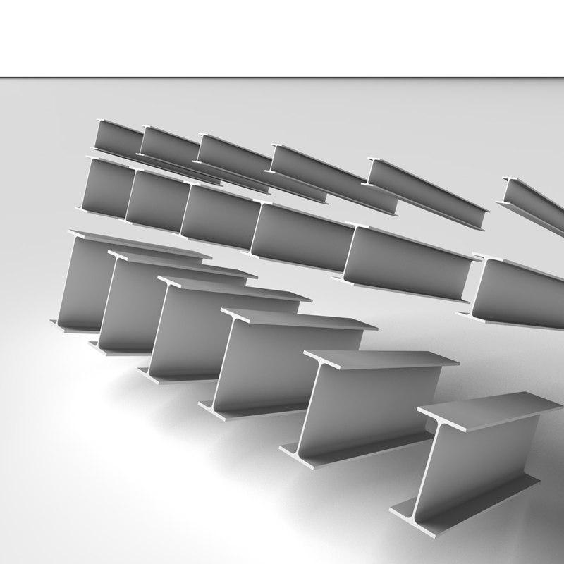 3d metal beams p e