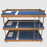 3d three-tiered bed model