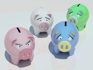 pigs 3d max