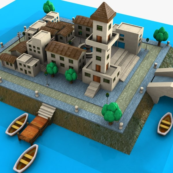 cartoon town island max