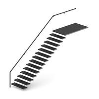 black metal stairs 3d c4d