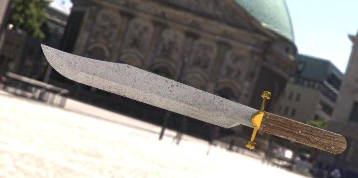 3d model bowie knife james