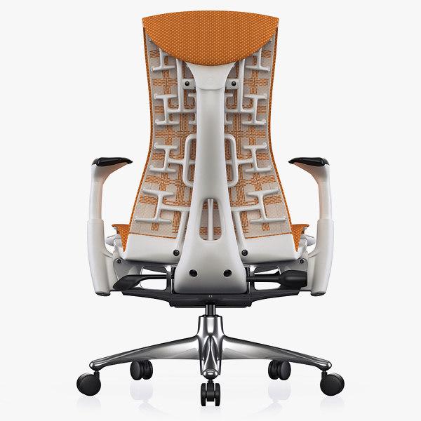 armchair herman miller embody 3d max