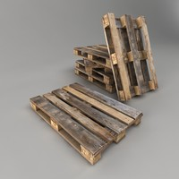 Old Pallet Low Poly