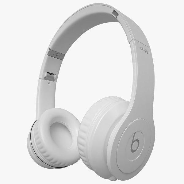 3d model of headphones monster beats