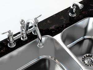 3ds max kitchen faucet