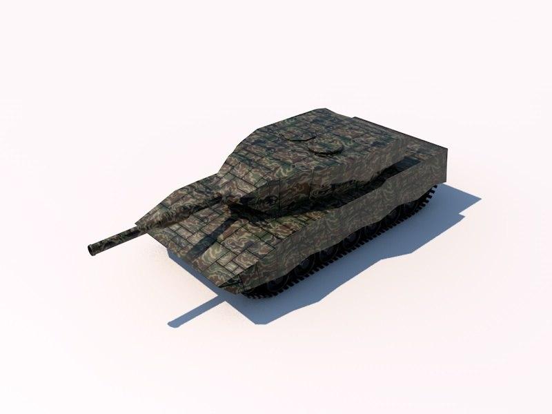 c4d leopard 2 battle tank