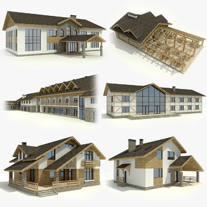 3dsmax 6 houses