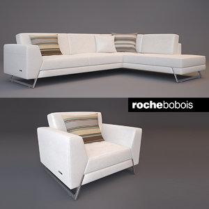 roche bobois satelis canape 3d max