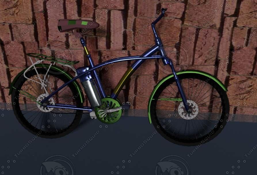 free racing bike 3d model