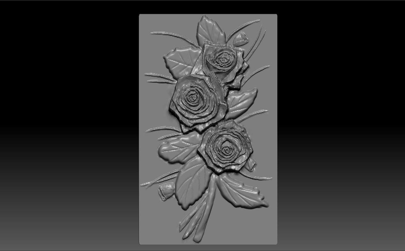 3d obj flower cnc