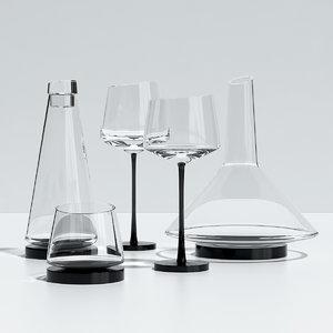 3ds max glassware somelier kvetna