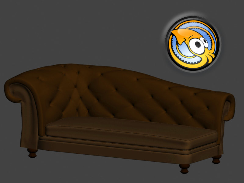 free sofa luxury 3d model