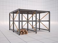 3d modular pallet shelf model