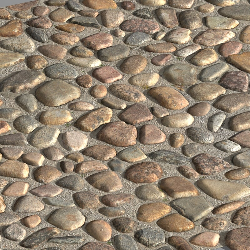 3d model paving stones 02