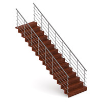 wood wooden stairs c4d