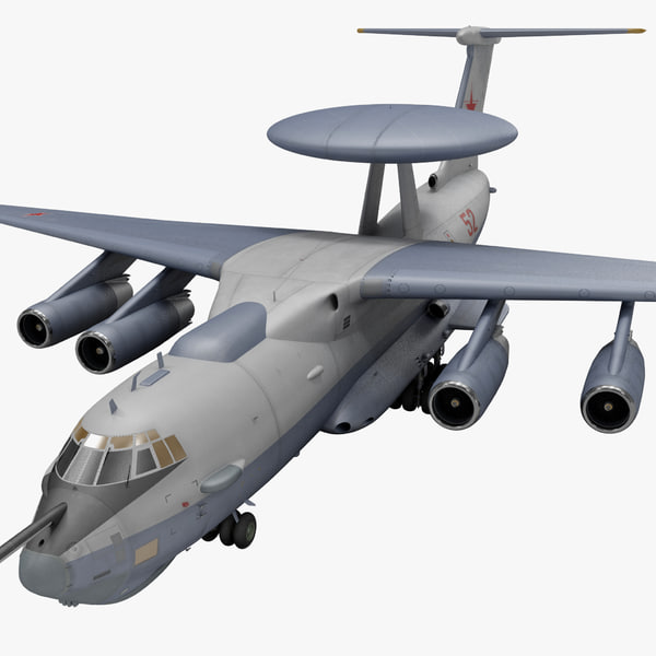 3d airborne control beriev a-50