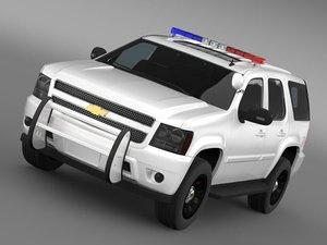 chevrolet tahoe police 3d model