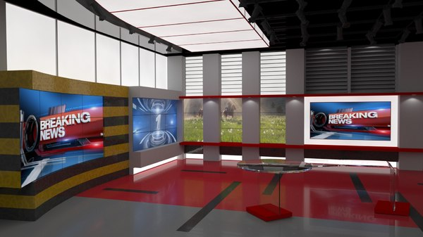 news studio room set x