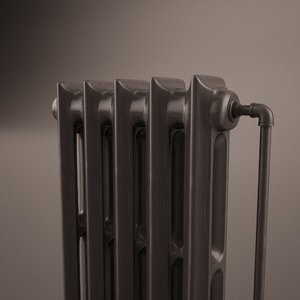 c4d vintage home radiator