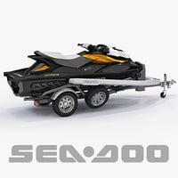 3dsmax sea-doo gti 215 trailer